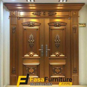 Pintu Kayu Jati Ukiran Model Klasik Jepara
