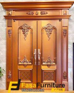 Pintu Utama Klasik Rumah DPR Double Ukiran