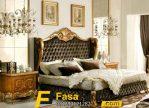 Tempat Tidur Ukir Gold Mewah Jok Sofa