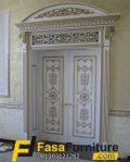 Model Pintu Double Klasik Duco Kayu Jati
