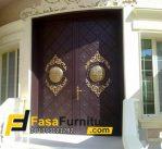 Set Pintu Utama Double Klasik Ukir Gold Mewah