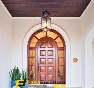 Pintu Utama Lengkung Single Minimalis
