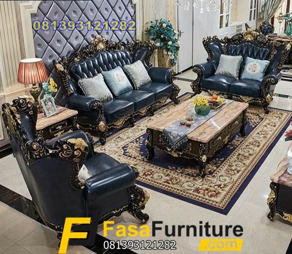 Sofa Tamu Mewah Model Klasik Eropa