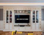 Bufet TV Minimalis Ukiran Gold Mewah FF-788