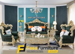 Pengrajin Kursi Tamu Sofa Model Ukiran Gold