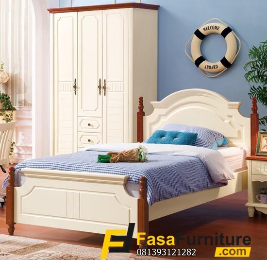 1 Set Tempat Tidur Anak Minimalis Lemari 3 Pintu