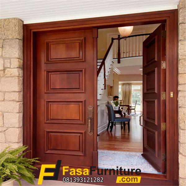 Kusen Pintu Depan Minimalis Kayu Jati