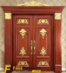 1 Set Daun Pintu Double Ukiran Gold