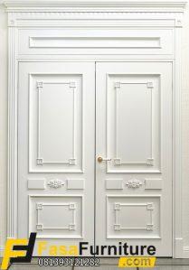 Pintu Utama Kayu Jati Klasik Minimalis FF-806